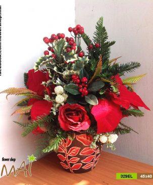 Bình hoa hồng 329EL