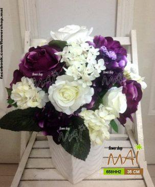 Bình hoa hồng 658HH2